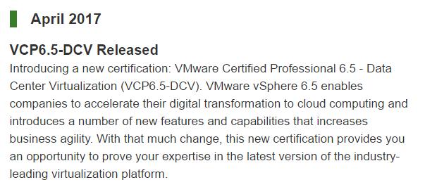 VMware 6.5 Release